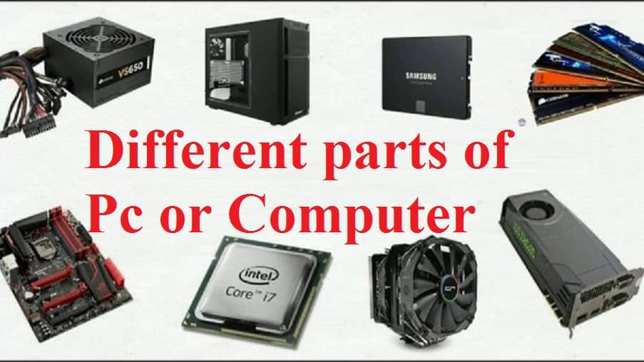 Different Parts Of Pc Or Computer