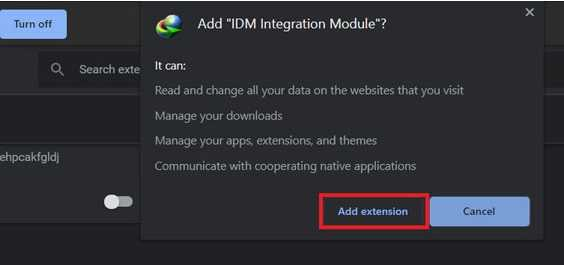 Add IDM extension