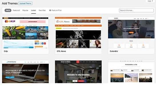 Add theme in a WordPress blog