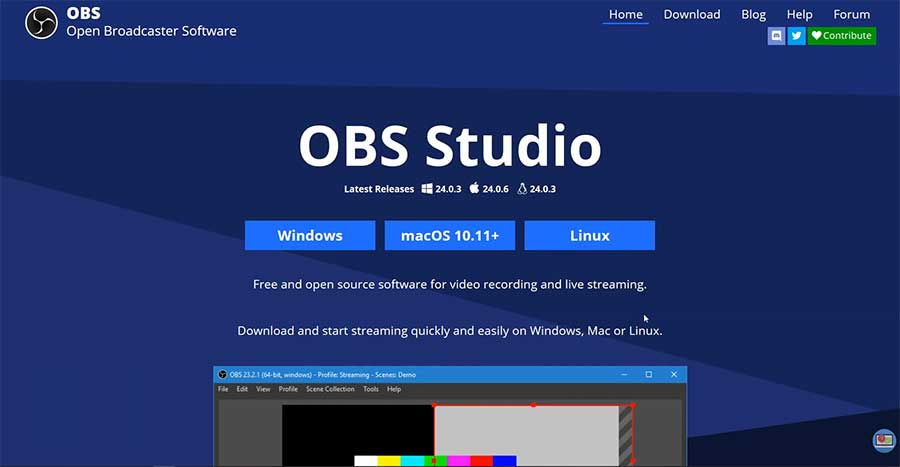OBS Studio Screen Recorder