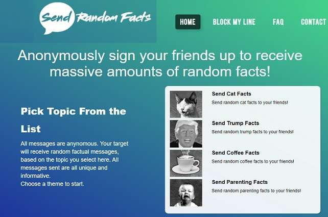 Send Random Facts