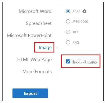 Export all images