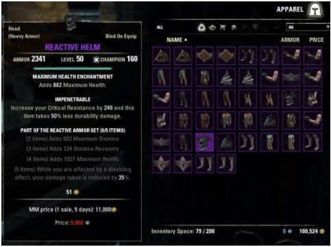 Inventory Grid View