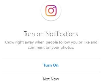 activate notifications on Instagram