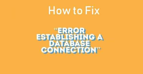 Fix Database Connection Error in WordPress
