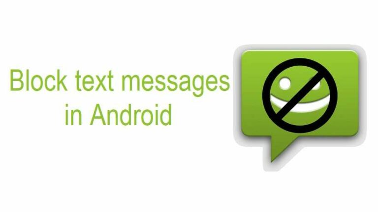 Block text messages in android