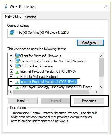 Internet Protocol Version 4 (TCP/IPv4)