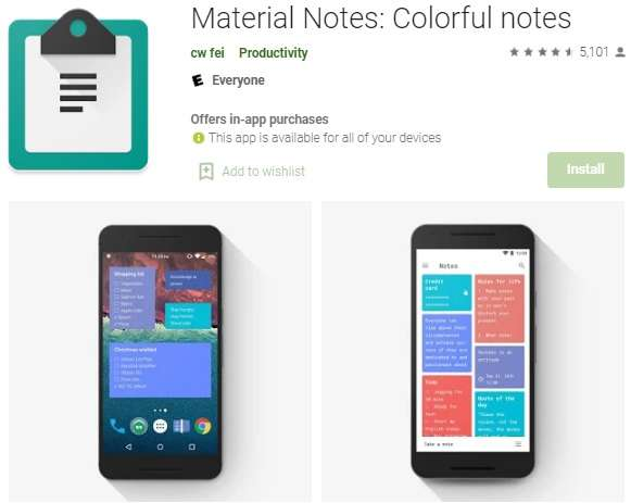 Material Notes