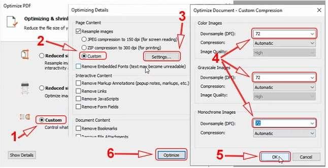 Optimized Document option