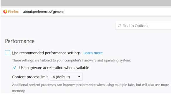 Performance in Firefox