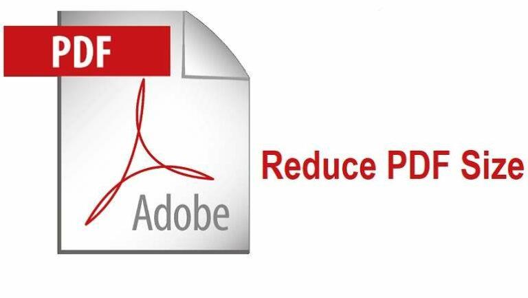 Reduce PDF Size