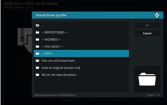 install the Kodi Bae repository for Exodus
