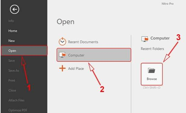 open file in Nitro Pro software