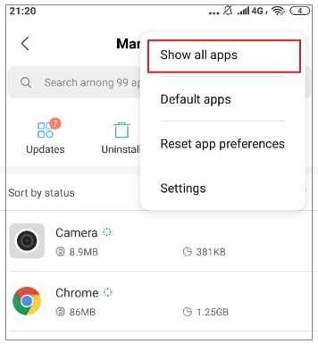 tap on the three-dot menu icon