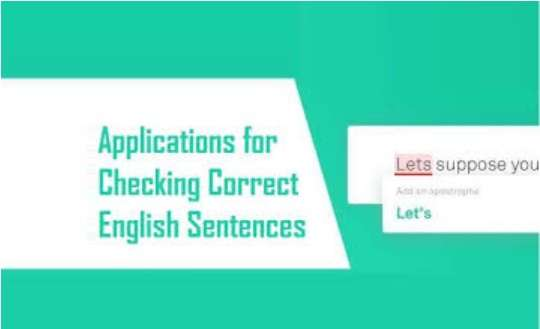 Checking Correct English Sentences