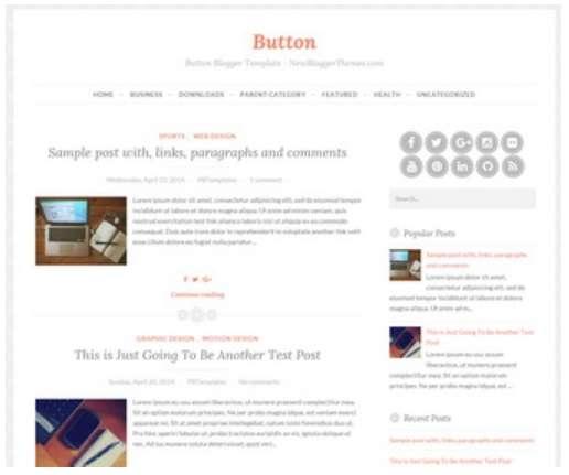 Button Blogger template