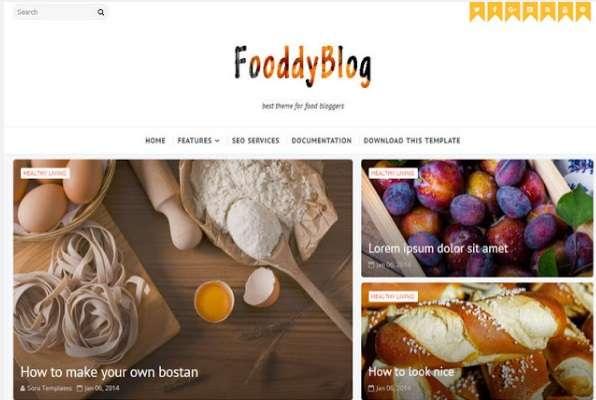 FooddyBlog Blogger template