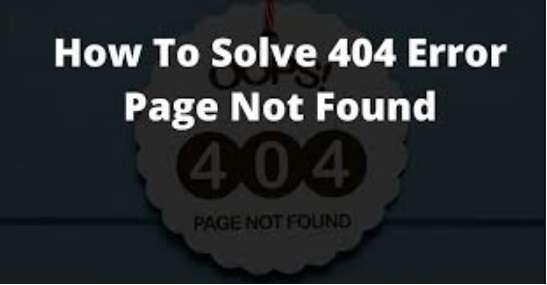 Solve 404 Error