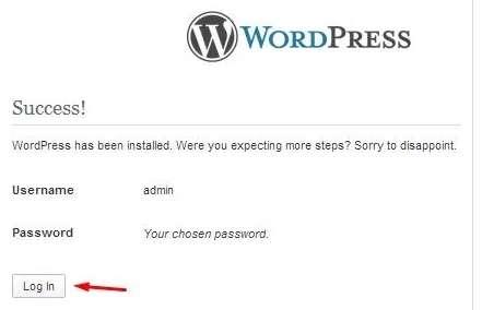 log in WordPress