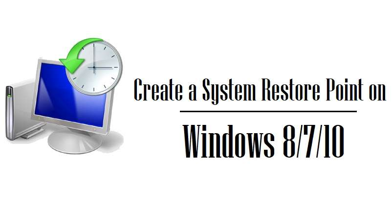 How To Activate Windows 10 Create restore point