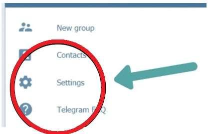Telegram settings