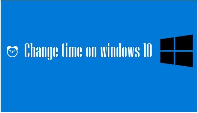 how to change time on windows 10
