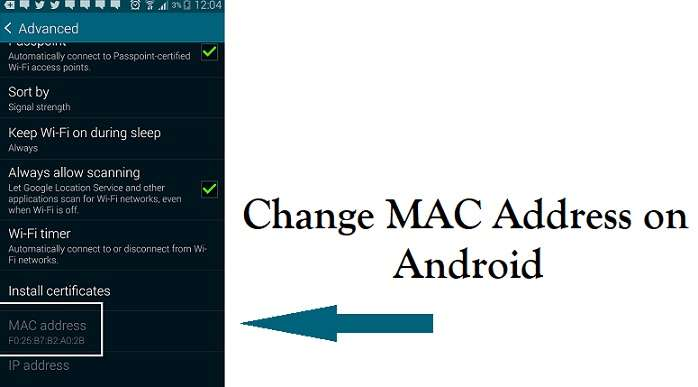 Change MAC Address on Android