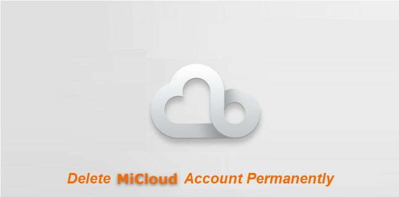 Delete Mi Cloud Account