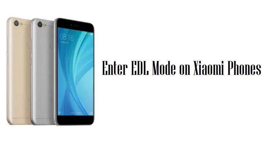 Enter EDL Mode On Xiaomi Phones