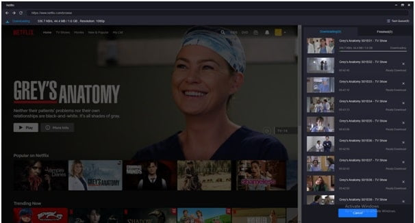 Sign in to your Netflix account and select the show you want to save for offline watch.