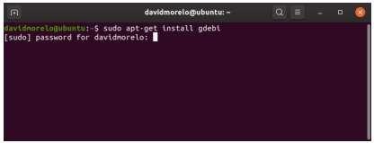 install gdebi-core