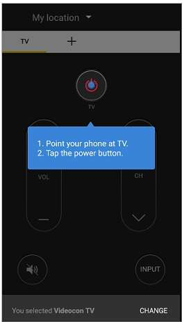 point your phone at TV