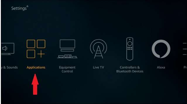 Applications on Fire TV