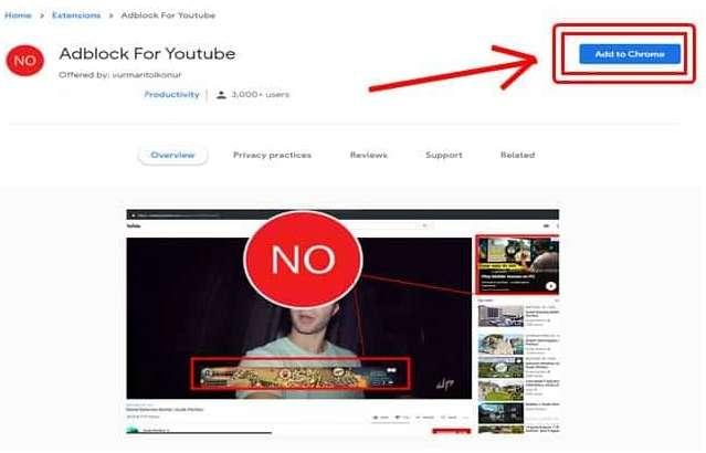 Install Adblock for Youtube