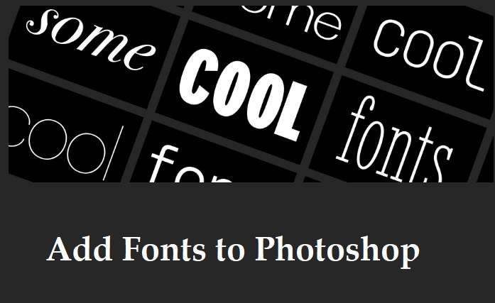 How To Add Fonts